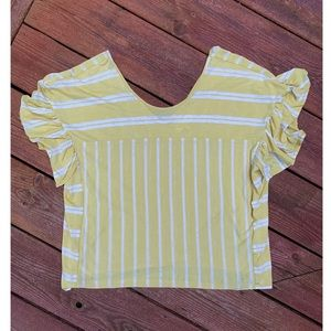 Yellow & White Stripped Tee